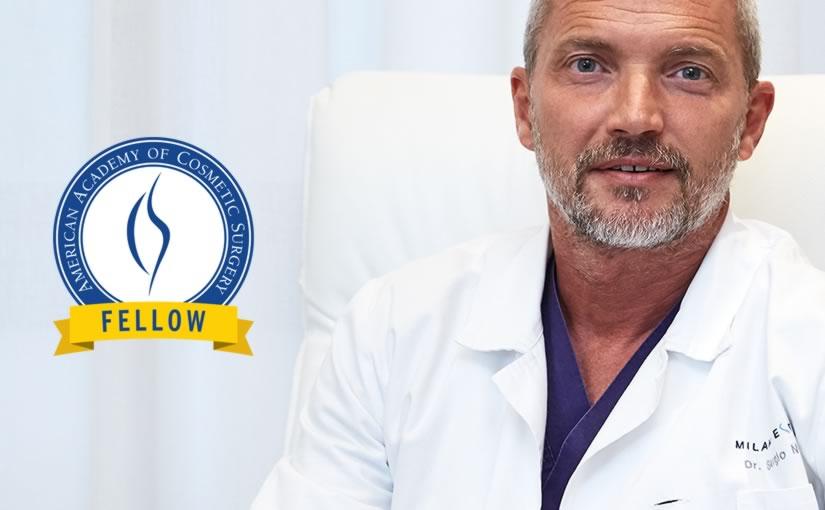 Fellowship Dr Sergio Noviello, American Academy of Cosmetic Surgery