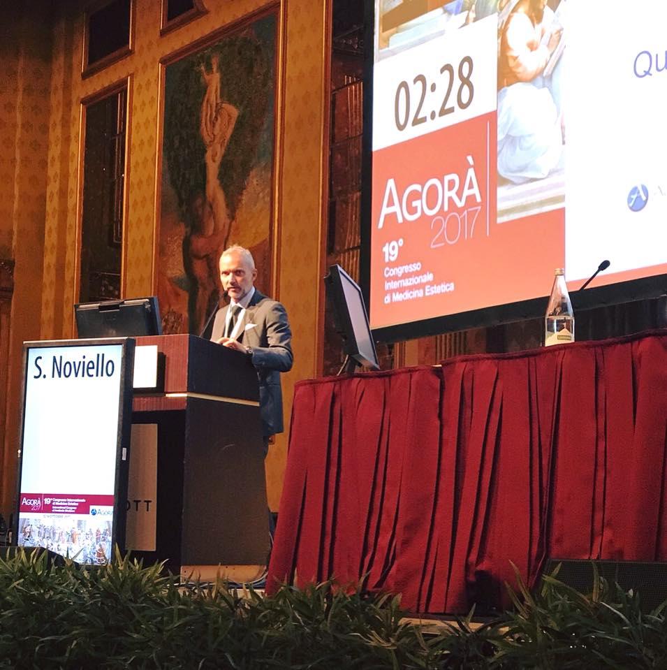 Dott. Sergio Noviello al Congresso Agorà 2017 di medicina e chirurgia estetica