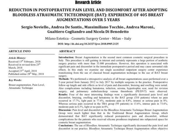 Studio sulla BAT su International Journal of Recent Scientific Research